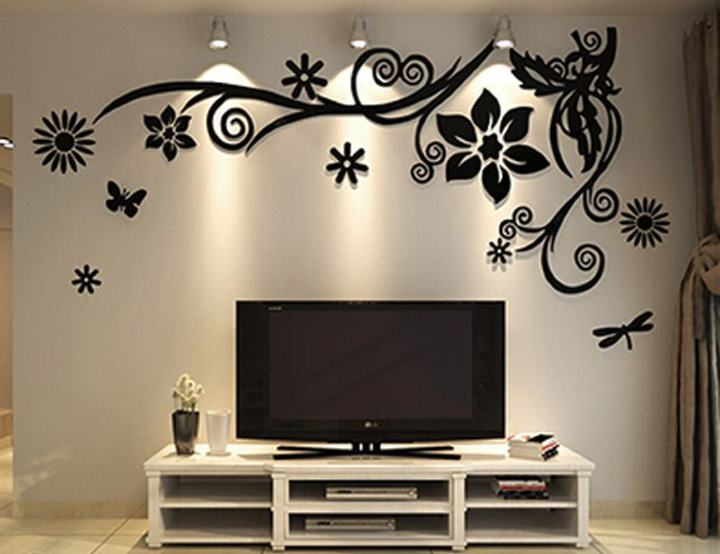 3D Stickers for TV Background